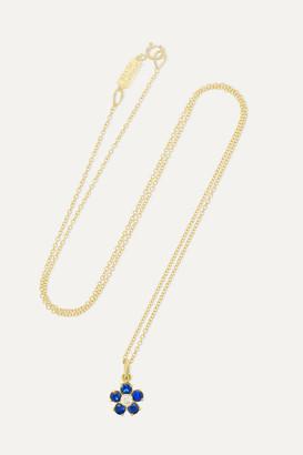 Jennifer Meyer Large Flower 18-karat Gold, Sapphire And Diamond Necklace - one size