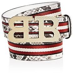 Bally Men's Mirror B Reversible Leather Belt
