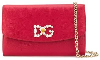 Dolce & Gabbana embellished logo clutch bag