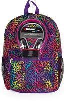 Asstd National Brand Rainbow Animal Print Backpack with Headphones