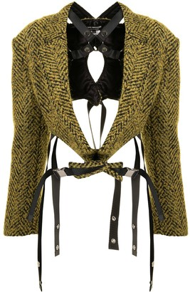 Junya Watanabe Harness-Strap Tweed Jacket
