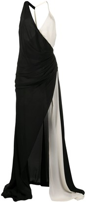 Redemption Halterneck Draped Detail Gown