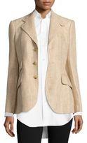 Polo Ralph Lauren Linen Herringbone Hacking Blazer