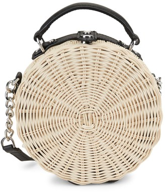 Calvin Klein Straw Crossbody Bag