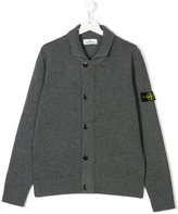 Stone Island Junior logo patch cardigan