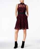 Rachel Roy Lace Illusion Fit & Flare Dress