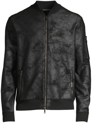 John Varvatos Acid Wash Bomber Jacket