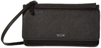 Tumi Belden Wallet Crossbody (Black) Handbags
