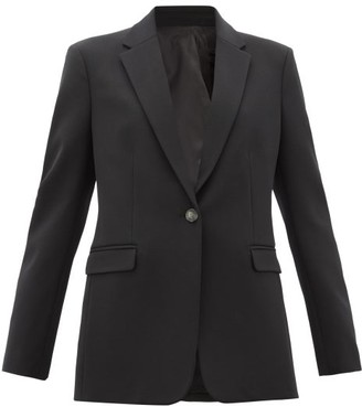 Joseph New Laurent Single-breasted Wool-blend Blazer - Womens - Black