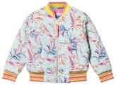 Le Big Aqua Palm Print Eliora Bomber Jacket