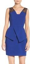 Adelyn Rae Women's Asymmetrical Peplum Dress