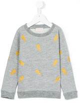 Simple leaf embroidered sweatshirt - kids - Cotton/Polyester - 2 yrs