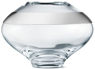 Georg Jensen Duo Round Glass Vase (18Cm)