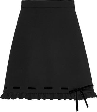 Miu Miu Cady And Velvet Skirt