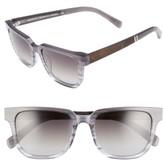Shwood Women's 'Prescott' 52Mm Acetate & Wood Polarized Sunglasses - Black/ Ivory/ Elm/ G15 Polar
