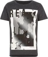 River Island Boys black 'Reality' print t-shirt
