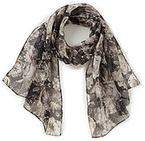 Collection 18 Oil Paint Floral Oblong Scarf