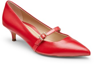 Vionic Leather Mary Jane Pumps - Minnie Patent