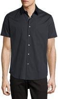 Theory Sylvain Wealth Slim-Fit Short-Sleeve Shirt