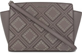 MICHAEL Michael Kors Selma diamond grommet leather messenger bag