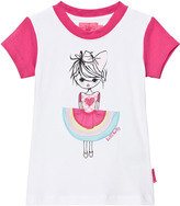 Lelli Kelly Kids Pink and White Girl with Appliqe Skirt Tee
