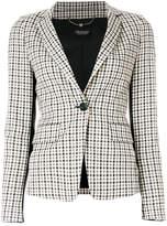 Twin-Set plaid check blazer
