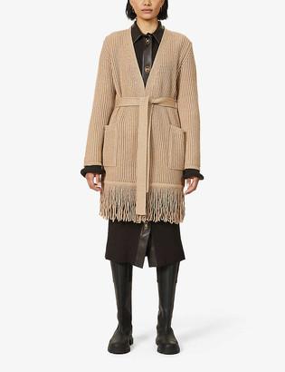 Max Mara Arold fringe-trim wool and cashmere-blend cardigan
