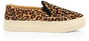 Soludos Women's Bondi Leopard-Print Calf Hair Slip-On Sneakers