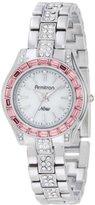 Swarovski Armitron Women's 75/5053MPSVPK Pink Crystal Accented Silver-Tone Bracelet Watch