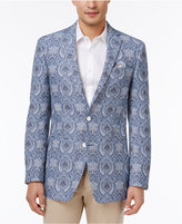 Tallia Men's Big and Tall Slim-Fit Light Blue/White Paisley Sport Coat