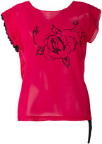 Hache rose print T-shirt - women - Cotton - 38
