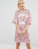 Love Moschino Typical Girl Floral T-shirt Dress