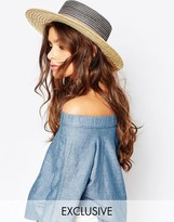 Catarzi Straw Matador Hat With Natural Straw Brim