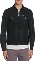 Diesel Zip Front Coated Denim Jacket