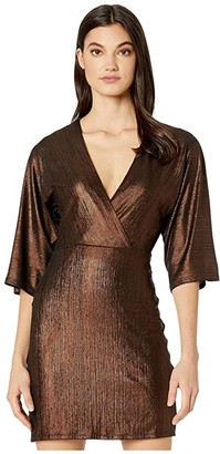 BCBGeneration Cocktail Kimono Sleeve Knit TOX6255978 (Bronze) Women's Clothing