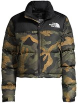 The North Face Nuptse Relax-Fit Crop Puffer Jacket
