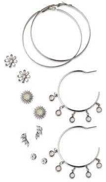 True Love Accessories Sparkle Stud Set with Dangle Hoops