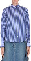 Sacai Striped Button-Down Blouse