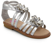 Flowers by Zoe Toddler's & Kid's Beth Floral Metallic Gladiator Sandals