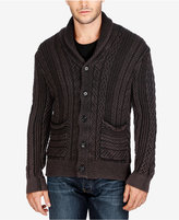 Lucky Brand Men's Cable-Knit Shawl-Collar Cardigan
