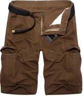 jeansian Men's Summer Causal Multi-pocket Cargo Shorts Pants S501