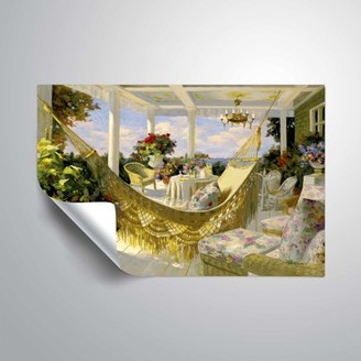 ArtWall Summer Veranda, Removable Wall Art Mural by Tim Benjamin