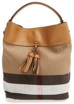 Burberry Medium Ashby Bucket Bag - Brown