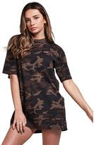 SikSilk Boyfriend T-shirt Dress - Camo