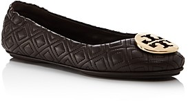 Tory Burch Women's Minnie Quilted Leather Travel Ballet Flats