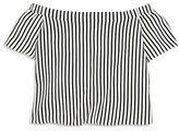 Aqua Girls' Striped Off the Shoulder Top , Sizes S-XL - 100% Exclusive