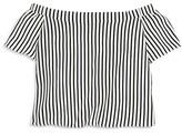 Aqua Girls' Striped Off the Shoulder Top - Sizes S-XL