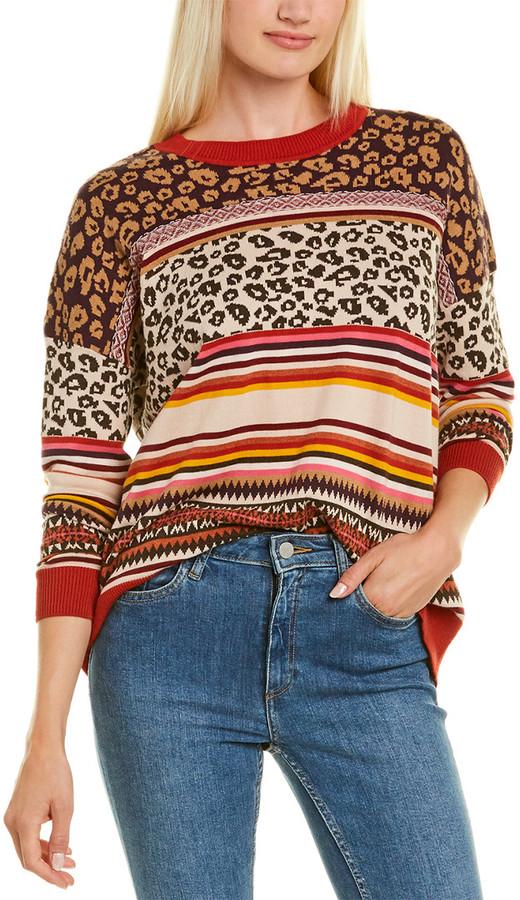 Cotton By Boxy Leopard & Fairisle Sweater