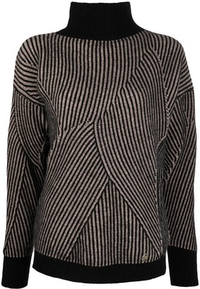 Blumarine Stripe-Patterned Knitted Jumper