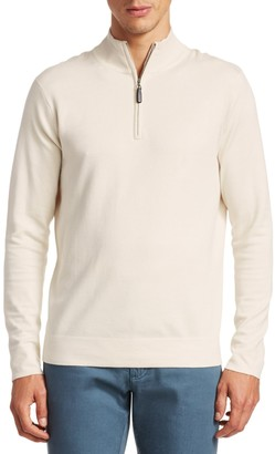 Saks Fifth Avenue COLLECTION. Silk-Blend Quarter-Zip Sweater